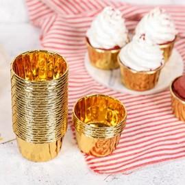 Cupcake Kalıbı Altın Folyo 25'li