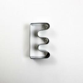 E Harf Metal Kurabiye Kalıbı