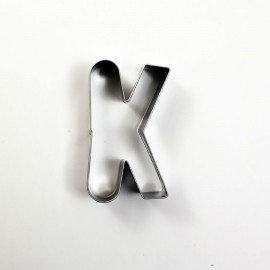 K Harf Metal Kurabiye Kalıbı