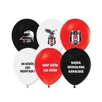 Beşiktaş Baskili Latex Balon 8 Adet