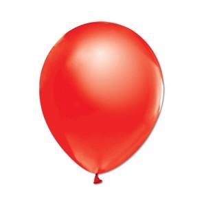Metalize Kırmızı  Balon , 10 Adet