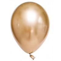 Krom Metalik Altın Balon 5 Adet