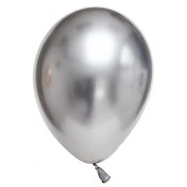 Krom Metalik Gümüş Balon 5 Adet