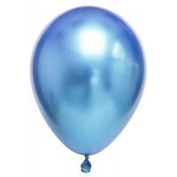 Krom Metalik Mavi Balon 5 Adet