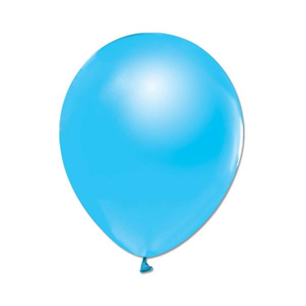 Metalize Açık Mavi  Balon , 10 Adet