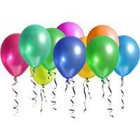Metalik Balon , Karışık Renk 8 adet