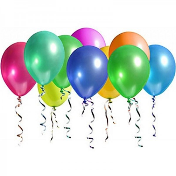 Metalize Karışık Renkli Balon , 10 Adet