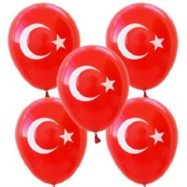 Ayyıldız Baskılı Bayrak Balon 8 Adet