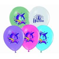 Unicarn Baskılı Latex Balon 8 Adet