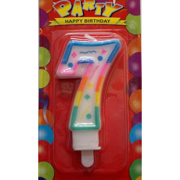 7 (Yedi) Rakamlı Pasta Mumu